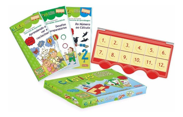 Kit Educativo Infantil Mini Criativo Luk Pedagogico Livro 3 Carimbras