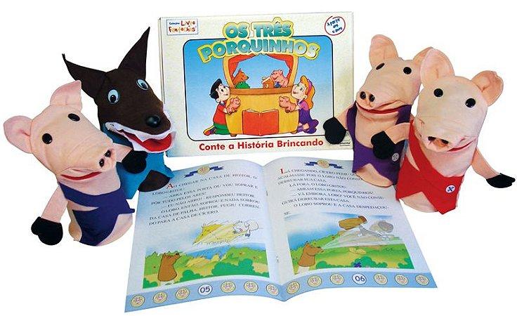 Fantoches Tres Porquinhos com Livro