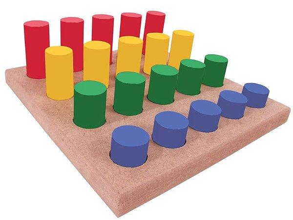 Pinos Coloridos de Madeira Educativo Simque