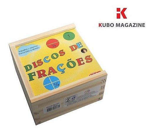 Discos de Frações Jogo Educativo Matematica Pedagogico Alfabetizaçao Carimbras