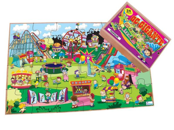 Quebra Cabeças Gigante Parque Peças Grandes 24 peças +3 Anos Simque
