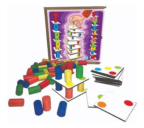 Torre Inteligente Jogo Madeira Educativo Simque