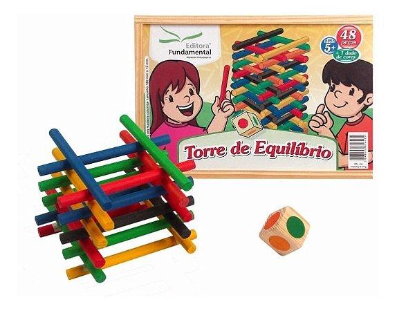 Torre De Equilibrio Jogo Educativo Madeira  Editora Fundamental