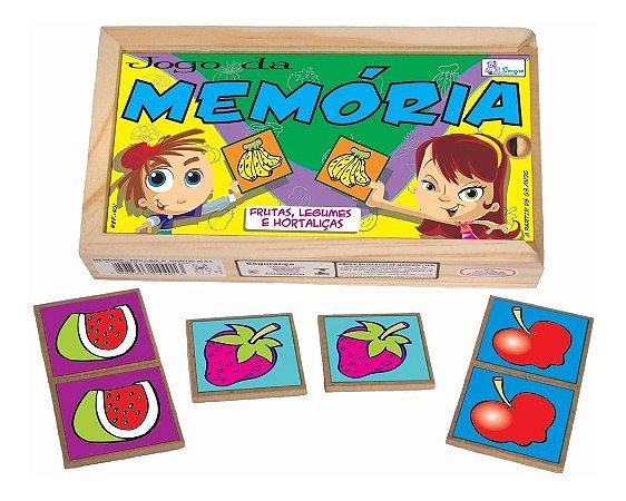 Jogo Da Memória De Frutas Educativo De Madeira Simque