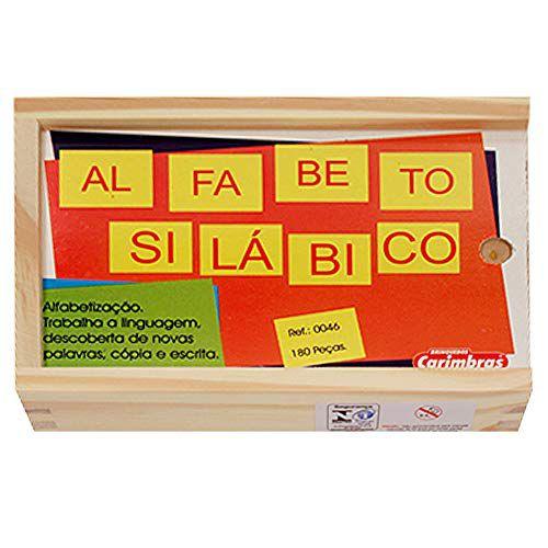 Alfabeto Silábico 180 peças- Carimbrás
