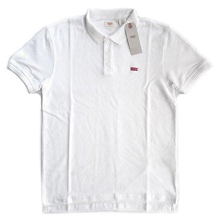 Camisa Polo Levis Manga Curta Branca