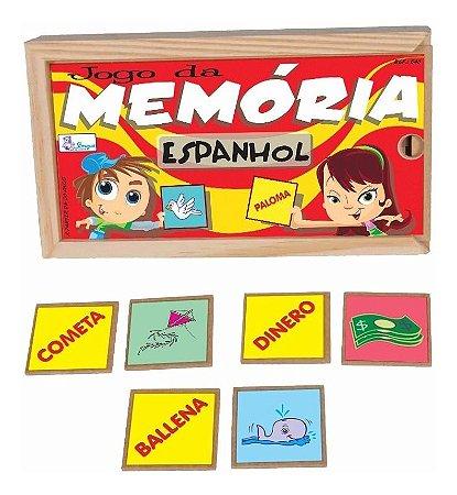 Jogo Da Memória Espanhol Educativo Pedagogico Simque