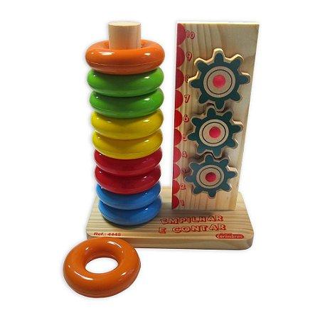 Empilhar E Contar Brinquedo Educativo Carimbrás