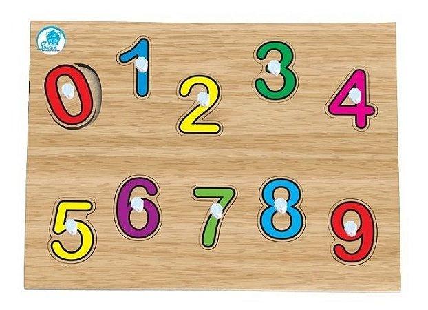 Jogo Educativo Quebra Cabeça De Pinos Simque Números