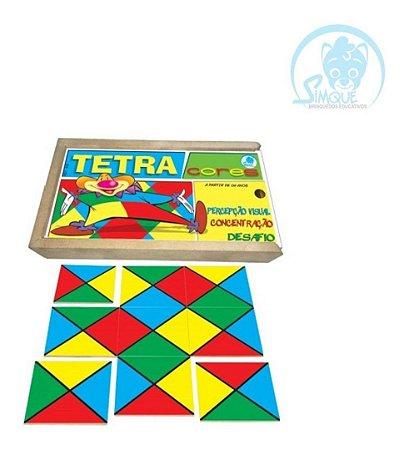 Tetracores Jogo Educativo De Madeira 6 Anos Simque