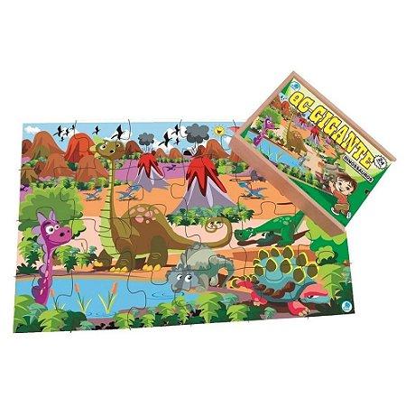 Quebra cabeça gigante dinossauros - 60 peças Simque
