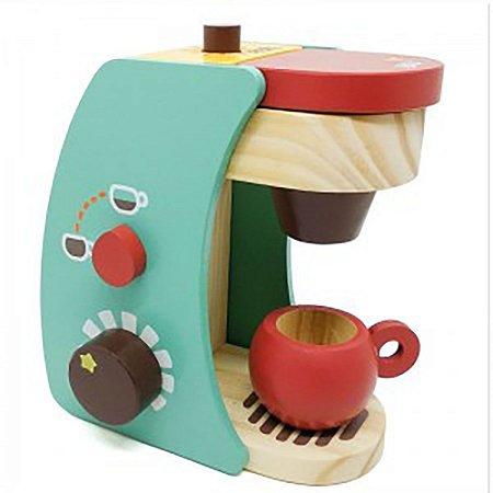 Brincando de Comidinhas - Kit de Cafeteira Madeira New Art