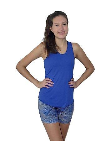 Short Poliamida Digital - mandala azul