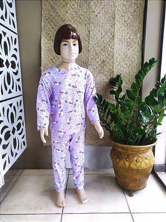 Pijama Infantil unicórnio lilás ML