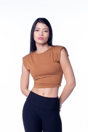 CROPPED MUSCLE T