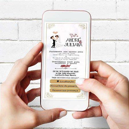 Convite de casamento Interativo