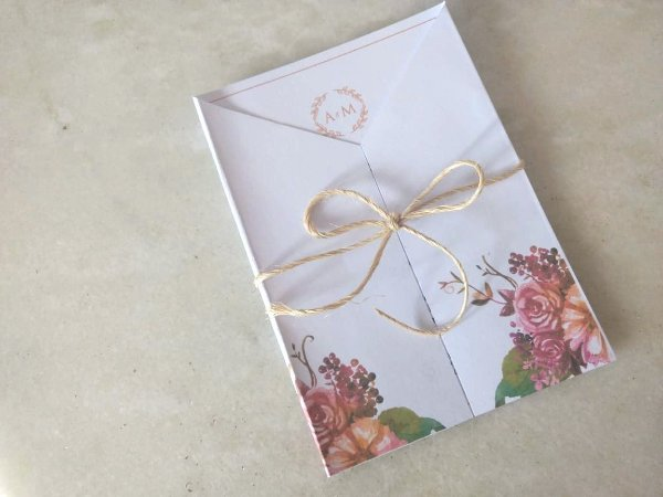 Convite de Casamento floral- arte digital