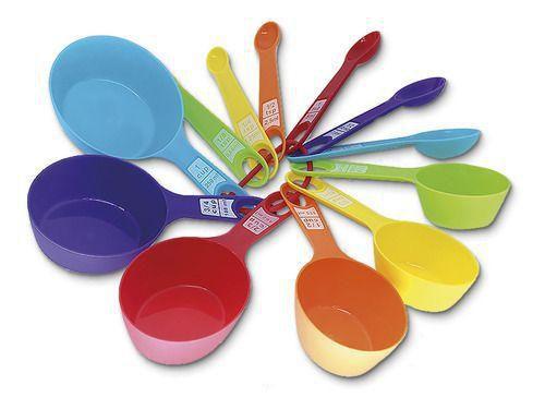 Medidor de Alimentos Ingredientes Cozinha Colheres Medidora - Kit 12 Peças