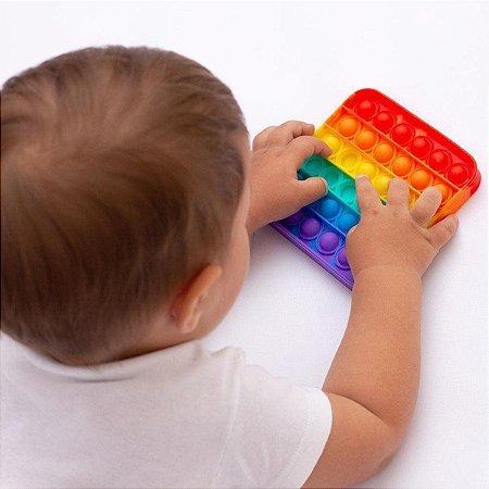 Pop It Fidget Toys Brinquedo Sensorial Ant Stress Quadrado