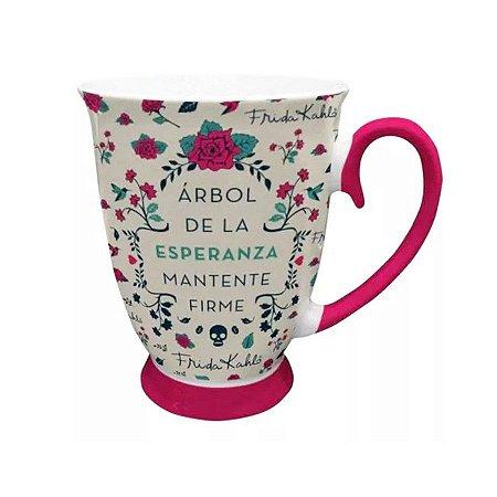 Caneca Porcelana Rococó Frida Kahlo