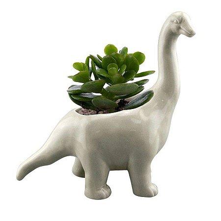 Cachepot Vaso Cerâmica Animais Dinossauros Brachiosausus