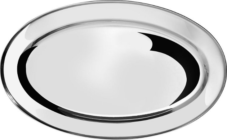 Travessa Oval Inox 30 Cm
