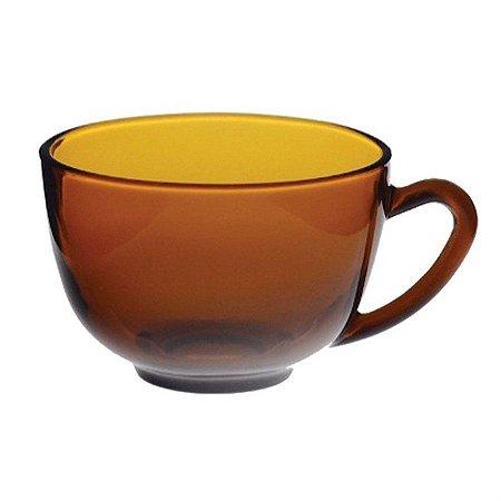 Xícara de Chá Em Vidro Lisa Amber 220 ML