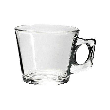 Xícara de Chá Café Em Vidro Transparente Lisa 200 Ml