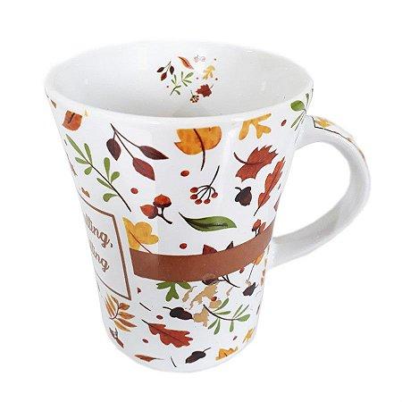 Caneca Ceramica 330 ML Cafe Leite
