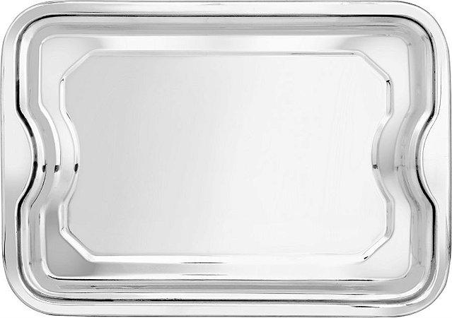 Bandeja Retangular Em Inox 42 CM - Linha Classic