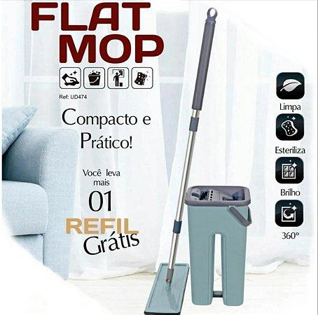 Esfregão Com Balde Mop Flat Vertical Lava e Seca Limpador Multiuso