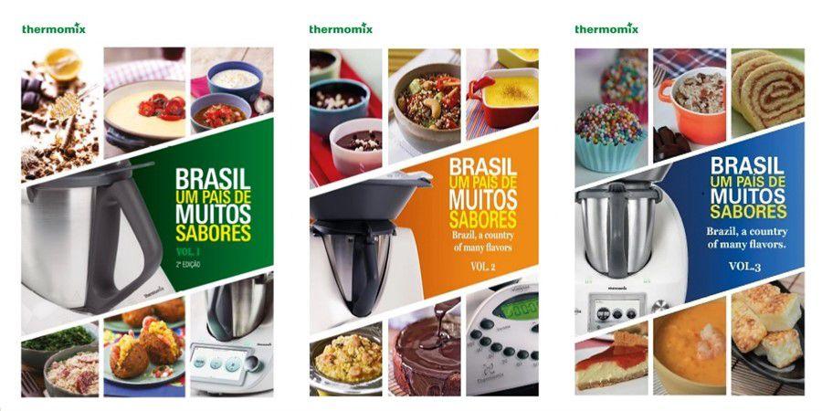 Combo Livros Thermomix Volume 1, volume 2 e volume 3 Brasil Um país de muitos sabores