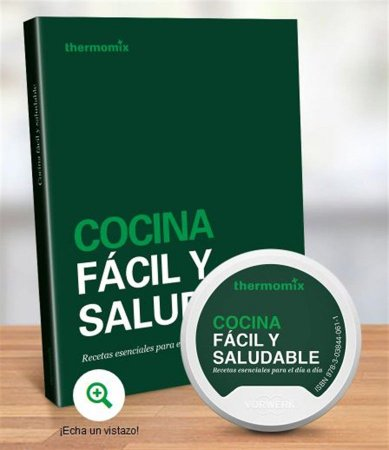 Livro ABC da Bimby TM 5 com  Chip de Receitas espanhol