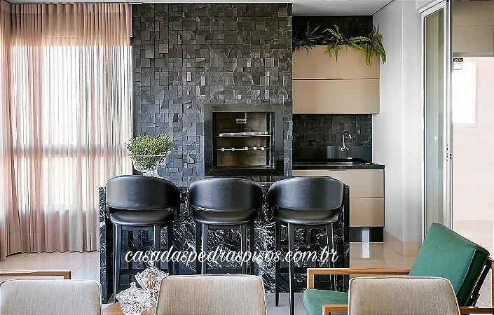 Basalto black mosaico modelo imperador placas de 30x30