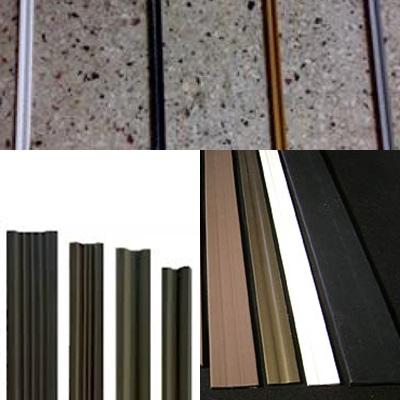 Juntas de dilatação em PVC para uso no piso granilite ou fulget