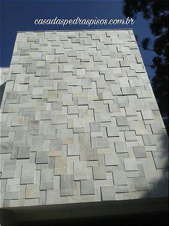 Pedra São Tomé branca 37x37 e 18x37 3D