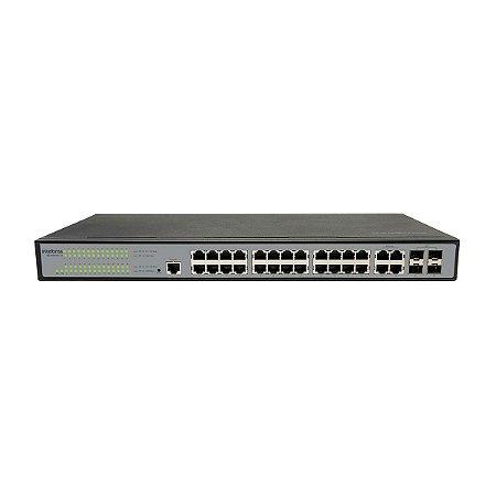 Switch 24 Portas 10/100/1000 + 4 Sfp Combo Sg 2404 Mr L2+