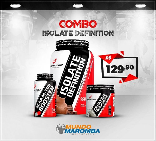 COMBO ISOLATE DEFINITION: WHEY ISOLATE 900G + BCAA M-TOR 90 CAPS + CREATINE 70G