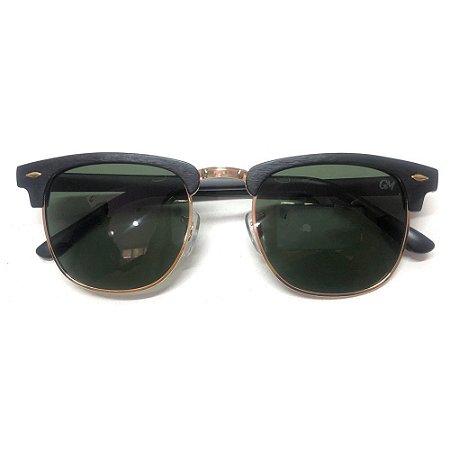 Óculos Solar Gama Club Preto Madeira