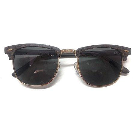 Óculos Solar Gama Club Marrom Madeira
