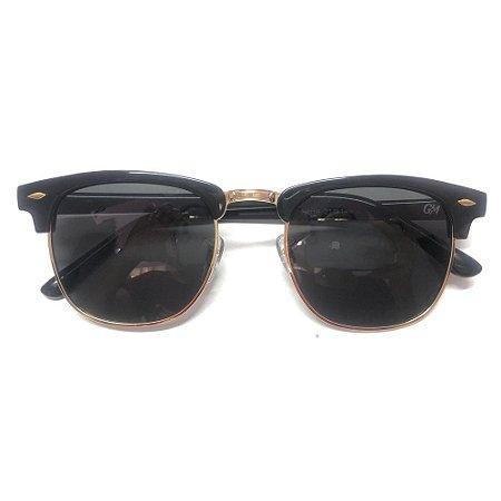 Óculos Solar Gama Club Preto Brilho