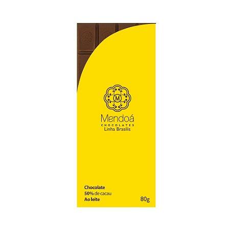 CHOCOLATE MENDOA 50% CACAU AO LEITE 80G