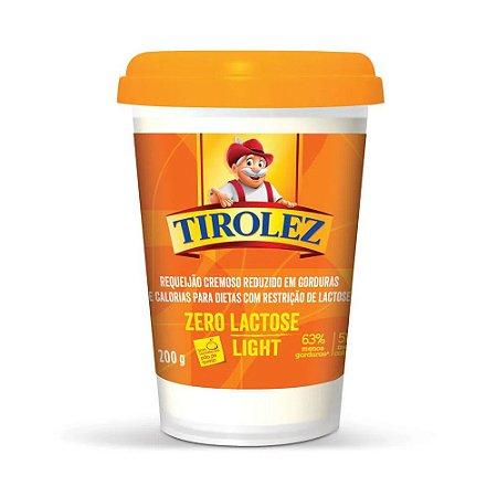 Requeijão Cremoso Zero Lactose Light Tirolez 200g