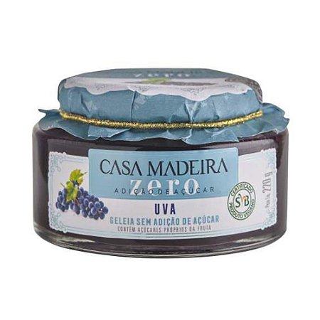 Geleia Casa Madeira Zero Açúcar de Uva 220g