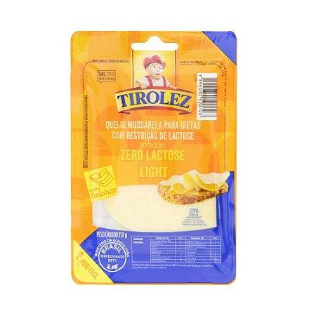 Queijo Mussarela Light Zero Lactose Tirolez 150g