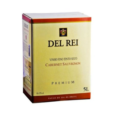 Vinho Del Rei Fino Tinto Seco Cabernet Sauvignon Bag In Box 5L