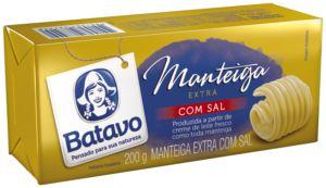 MANTEIGA EXTRA COM SAL BATAVO 200G