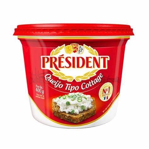 QUEIJO TIPO COTTAGE PRESIDENT 220G