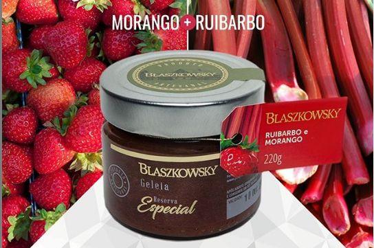GELEIA DE MORANGO COM RUIBARBO BLASZKOWSKI 220G