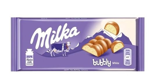 MILKA BUBBLY WHITE 95G
